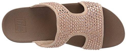Slide Women's fitflop Nude Glitzie Sandal wazqzUEn