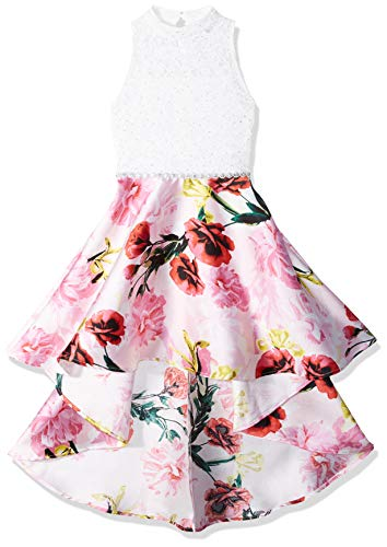 Speechless Girls' Big Party Dress with Dramatic High-Low Hemline, Pink Yellow 16