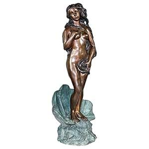 Design Toscano The Birth of Venus Cast Bronze Garden Statue: Two Tone Finish