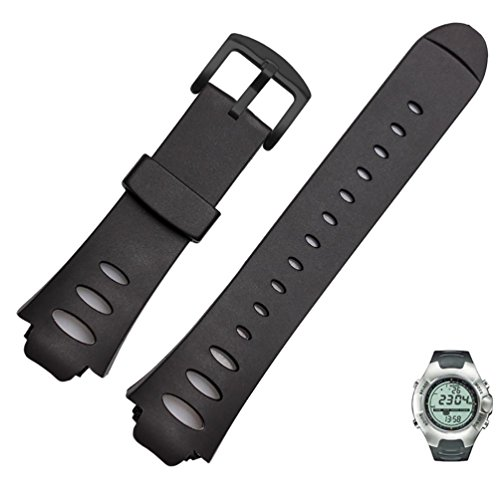 (Soft Rubber replacement Watch Band Strap For SUUNTO OBSERVER SR X6HRM (Black))