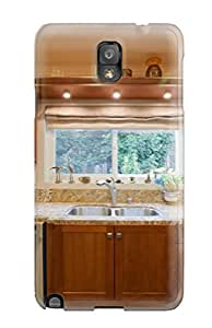 Fashion Protective Neutral Kitchen Sink With Granite Counter Case Cover For Galaxy Note 3