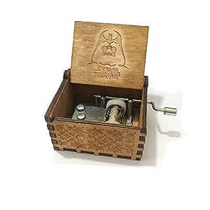 """Puro mano clásico """" Star Wars """"caja de música caja de música de madera a mano artesanías de madera creativa Mejores regalos"""