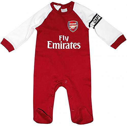 Arsenal FC Sleepsuit 0/3 Months - Authentic, licensed product - Soft cotton - Makes a great present for the little Arsenal FC soccer fan!