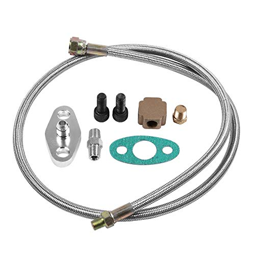 KIMISS Turbo oil supply line kit complete turbo oil supply for T3 T4 T3 / T4: