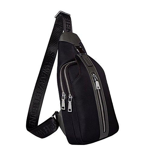 outdoor Pacchetto Sport e a tracolla spalla semplice da Semplice Borse Zaini Borsa nero uomo Oblique Cof Shoulder Borse a Cross qpTw4ga