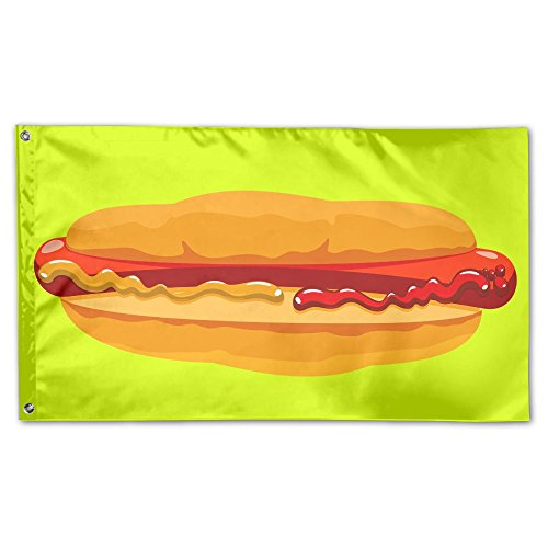 Garden Flag Yard Sweet Home Decoration 3x5 Foot Hotdog Sandwich One-sided Printed -