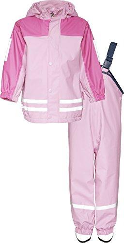 Playshoes Regen-Anzug mit Fleece-Futter 408698 Unisex - Kinder Regenmntel, Gr.104 (Herstellergröße: 3-4 Jahre), Rosa (730)