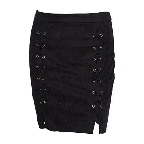 Noir Courte Bandage en Couleur carolilly Noir et Elgante Rose Jupe Chic Crayon Vogue qtxrqEzwaY