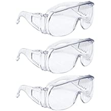 AMSTON Safety Glasses (3-pack), ANSI Z87+ Standards, Eyewear Personal Protective Equipment/PPE for Construction, DIY, Home Projects & Lab Work