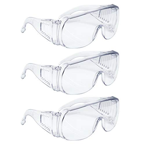 AMSTON Safety Glasses Personal Protective Equipment, PPE, Eyewear Protection, Clear, Meets ANSI Z87+ Standards, High Impact, Vented Sides, For Construction, Laboratory, Chemistry Class (1 Pack)