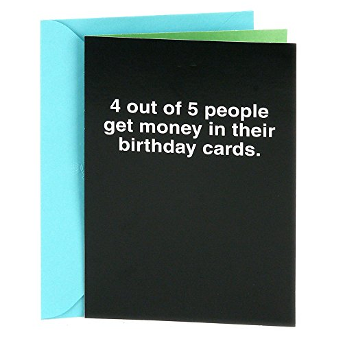 Hallmark Shoebox Funny Birthday Greeting Card (4 Out of 5 People)