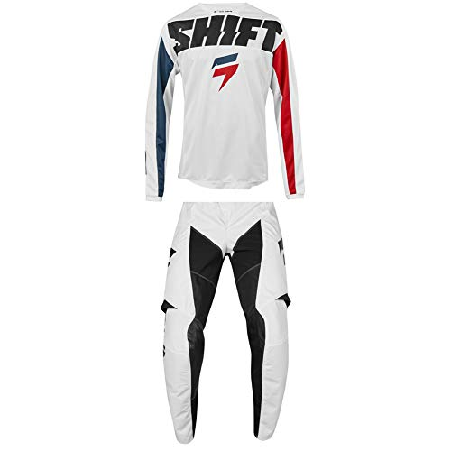 Shift Racing 2019 Adult WHIT3 Label York Jersey and Pants Combo - WHITE - 2X/40W