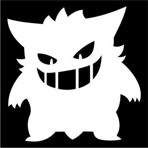 Pokemon Gengar WHITE Vinyl Car/Laptop/Window/Wall (Team Aqua Theme Deck)
