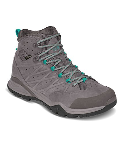 The North Face Women's Hedgehog Hike II Mid Gtx - Q-Silver Grey & Porcelain Green - 10