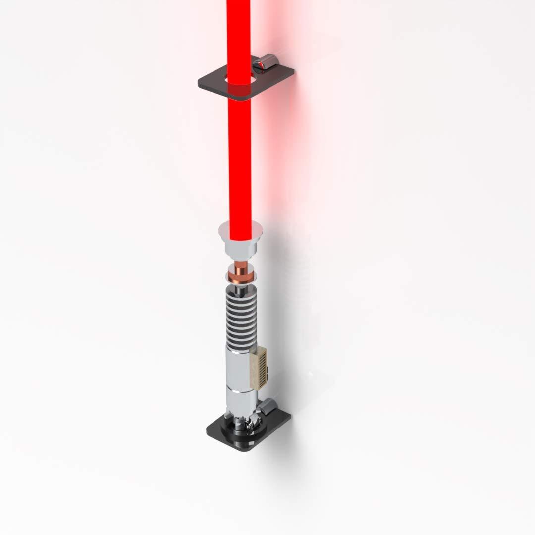Lightsaber Holder Black Lightsaber Vertical Wall Rack// Star Wars Holder