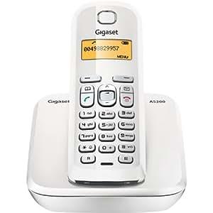 Gigaset AS200 - Teléfono (Teléfono DECT, 60 entradas, Blanco)