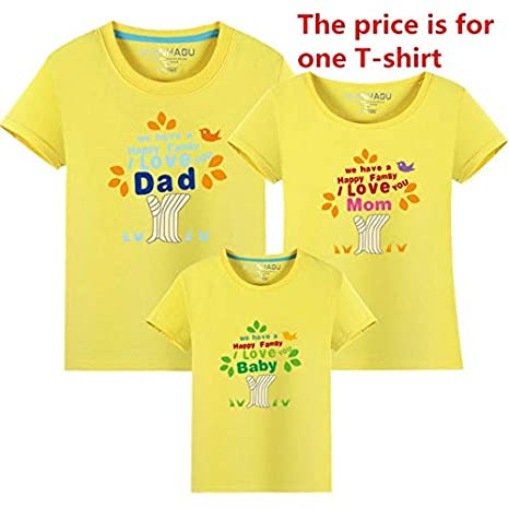 912bd97ca Hot Family t-Shirts Mother Father Baby Short Sleeve Tops DAD MOM Baby  Pattern Summer