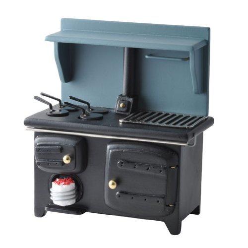 Dollhouse-Miniature-Black-Wood-burning-Stove