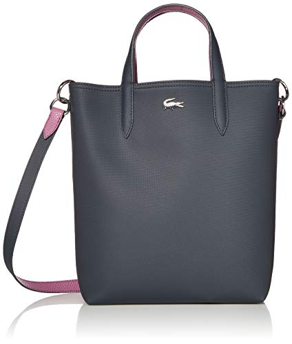 Lacoste Women Anna Vertical Shopping Bag, Ebony Orchid