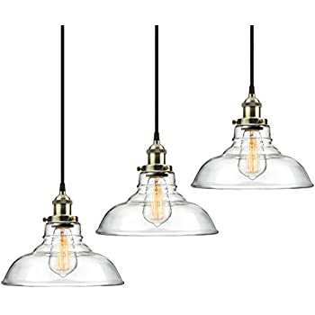 3 Pack Pendant Light Hanging Glass Ceiling Mounted