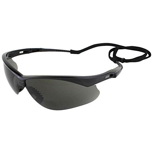 Jackson V60 Nemesis RX Safety Eyewear, +2.0 Diopter Smoke Polycarb Anti-Scratch - Polycarb Lenses