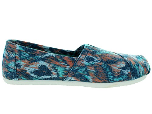 Toms Womens Classic Turquoise Multi Casual Shoe 5 Women Us