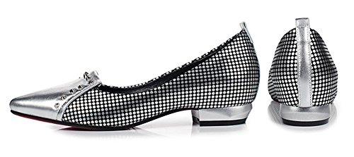 Femme Pointu Aisun Mode Rivets Ballerines Bout qxBagBd