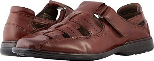 - Stacy Adams Men's Bridgeport Closed Toe Fisherman Sandal, Cognac, 9 M US