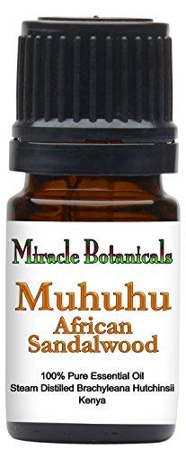 - Miracle Botanicals Muhuhu - African Sandalwood Essential Oil - 100% Pure Brachyleana Hutchinsii - Therapeutic Grade - 5ml