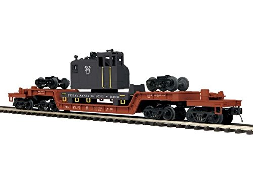 MTH TRAINS; MIKES TRAIN HOUSE PRR 75' Depressed Flat CAR