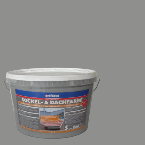 Wilckens Sockel- und Dachfarbe, Steingrau, 5 L 13373000090