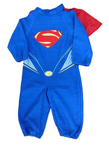 DC Comics Toddler Boys Superman Costume Super Man Coverall & Cape 2-4T -