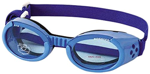 Doggles ILS Large Shiny Blue Frame with Blue Lens Dog Goggles