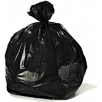 Amazon Com Black Garbage Trash Bags For Heavy