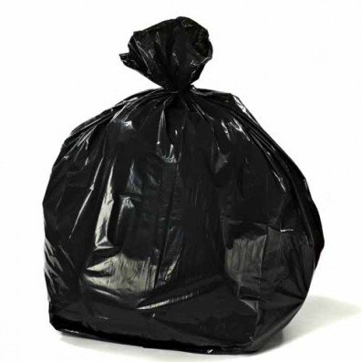 Plasticplace 55-60 Gallon Trash Bags, 38W x 58H, 1.2 Mil, Black, 100/Case from Plasticplace