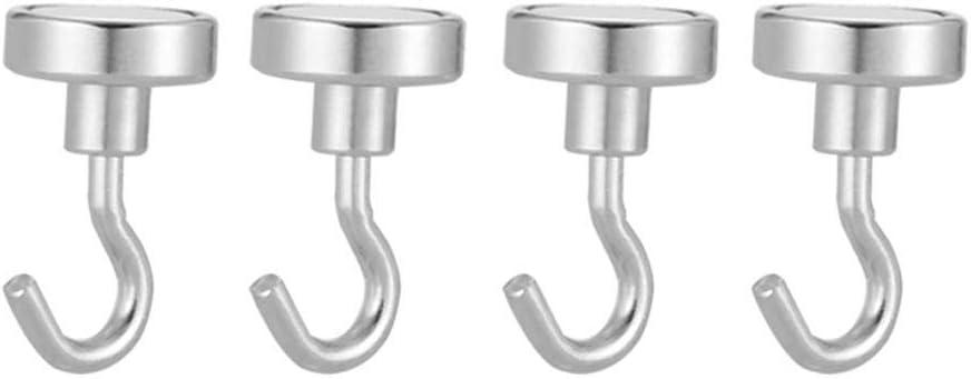 Starke Tragf/ähigkeit Silber H/ängende Haken D20, 10PCS Innen-Au/ßenb/üro f/ür zu Hause Magnethaken