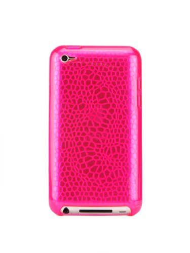 Gecko Gear GLOW in the Dark Case - PINK + Anti-Glare Guard for Apple iPod Touch 4G - Retail Packaging