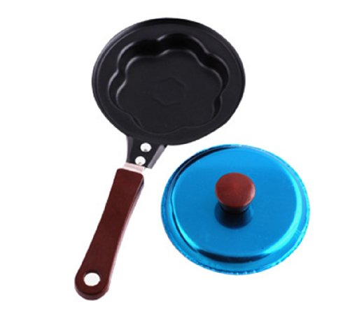 Creative Non-stick Fried Egg Pan with Lid (The Plum Blossom)