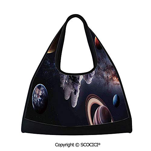 (Table tennis bag,Astronaut Between Planets Mars Neptune Jupiter Plasma Ethereal Sphere Picture,Sports and Fitness Essentials(18.5x6.7x20 in) Multi)