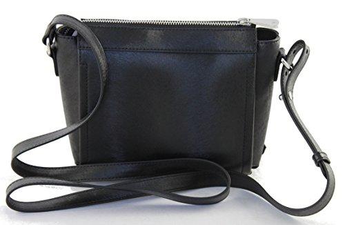 Armani Jeans 922104 - Bolso cruzados para mujer negro negro B 18 x H 22 x T 8