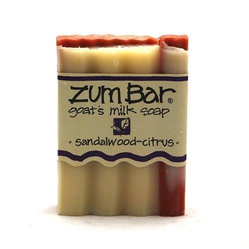 Indigo Wild: Zum Bar Goat's Milk Soap Bar, Sandalwood Citrus 3 oz (3 pack) (Sandalwood Scent Citrus)