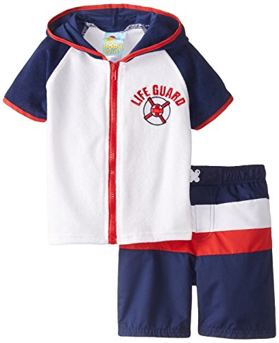 Baby Buns Little Boys' Life Guard, Navy, 4T