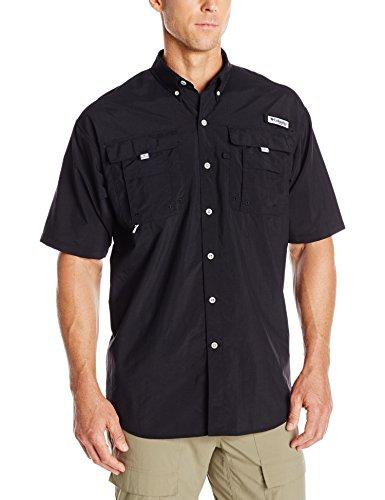 Columbia Men's Bahama II Short Sleeve Shirt, Black, 2X Tall