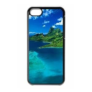 IPhone 5C Case, Luxury Brand Paradise Island Case for IPhone 5C {Black}