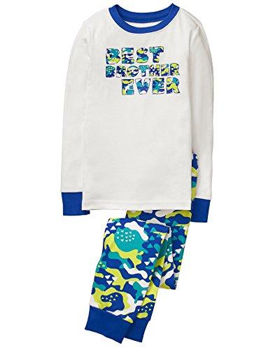 Gymboree Boys' 2 Piece Cotton Tight-fit Pajamas, Best Brother, - Gymboree