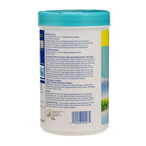 Disinfecting Wipes by Clean Cut, Fresh Scent, Value Size 200 Wet Wipes (Pack of 6, 1200 Total Wipes) - 2