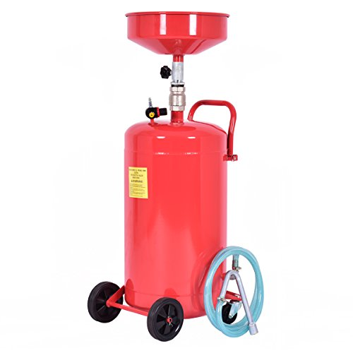 - Goplus 20 Gallon Portable Waste Oil Drain Tank Air Operated Heavy Duty Height Adjustable (Height 44.5