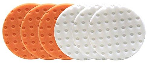 - Lake Country CCS Smart Pads DA 5.5 inch Foam Pad (3-White, 3-Orange, 5.5)