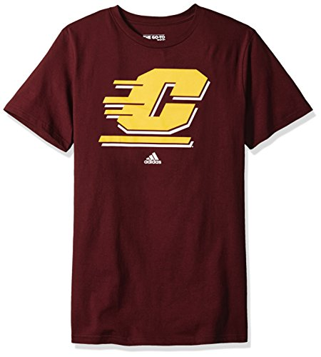 Addidas NCAA Men's Central Michigan Chippewas Primary Logo Short Sleeve Tee - Large