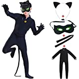 Rfeng Ladybird Cat Noir Black Classic Characters For Child Costume Girls Boys Child Spandex Jumpsuit Fancy Halloween…
